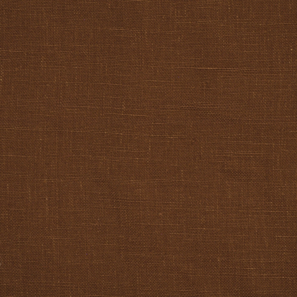 LINEN TEXTURES MP Kilrush Fabric - Russet