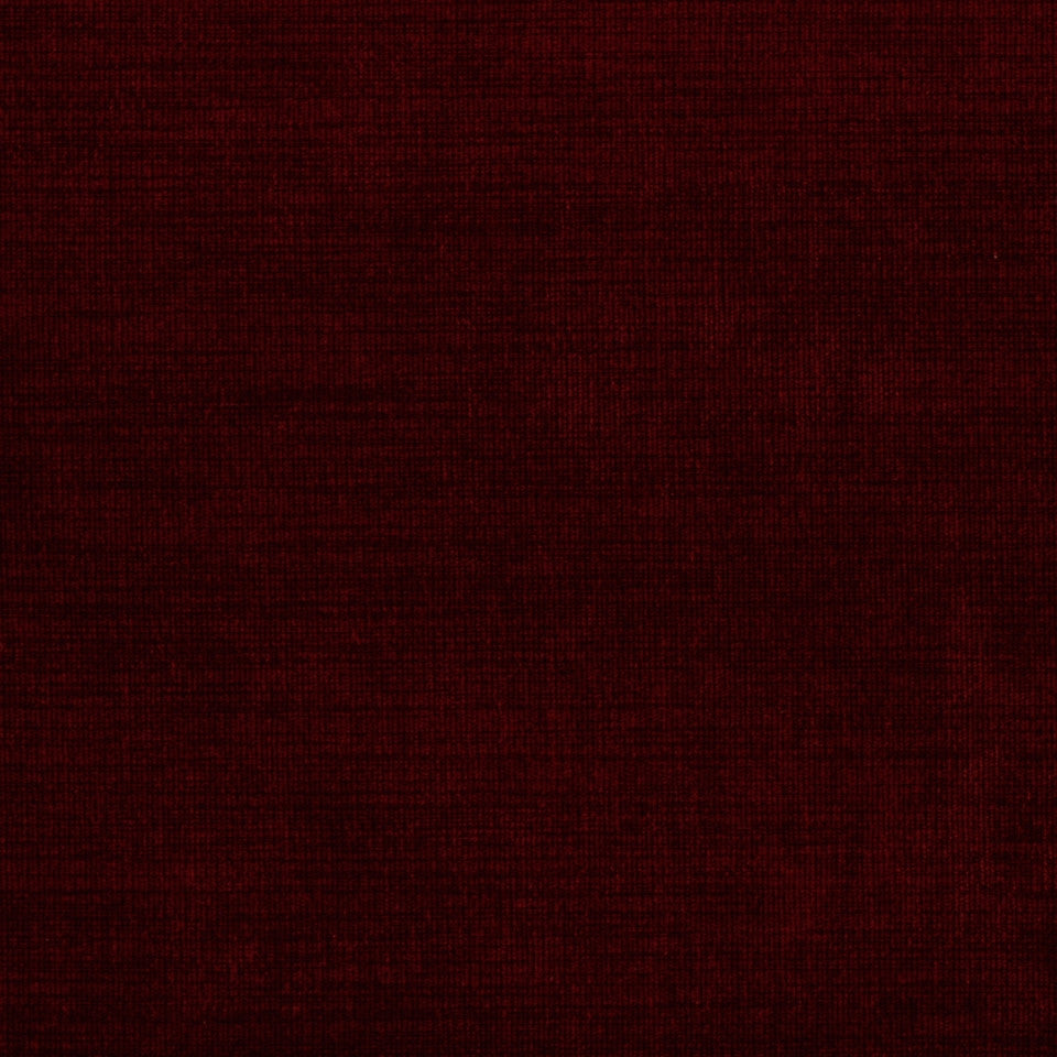 PERFORMANCE CHENILLES Cracker Lines Fabric - Cardinal