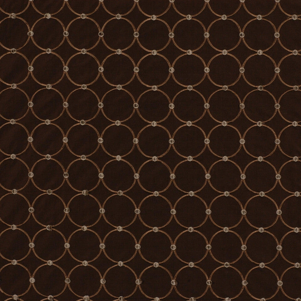 NEUTRAL ORNAMENTALS Circle Rings Fabric - Espresso