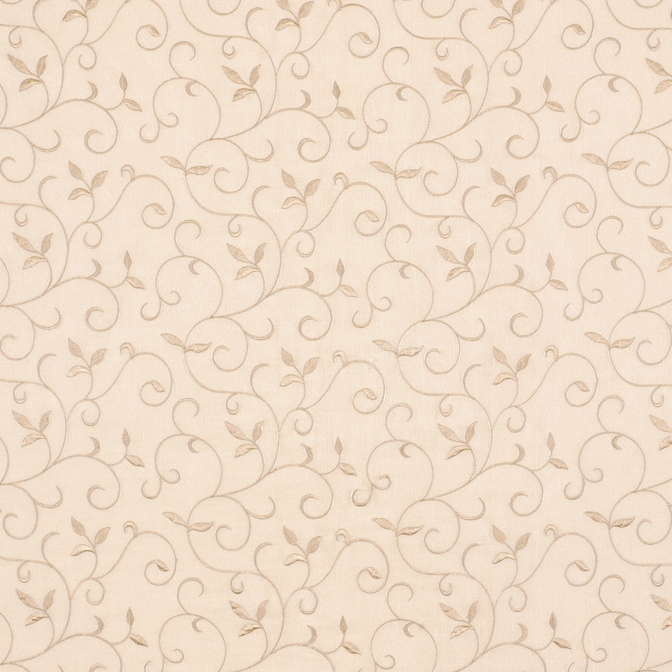 NEUTRAL ORNAMENTALS Graceful Vines Fabric - Honey
