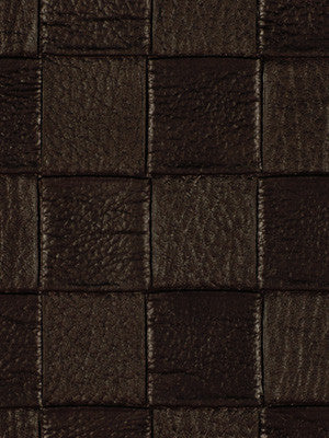 PERFORMANCE VINYLS Checkered Tile Fabric - Mahogany