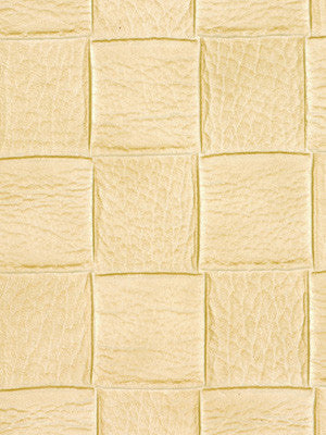 PERFORMANCE VINYLS Checkered Tile Fabric - Manilla