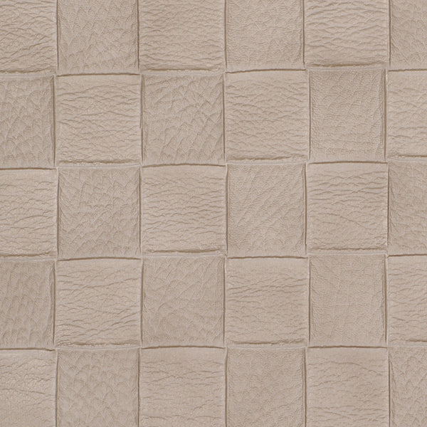 PERFORMANCE VINYLS Checkered Tile Fabric - Parchment
