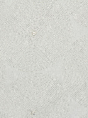 Halo Embroider Fabric - Ivory
