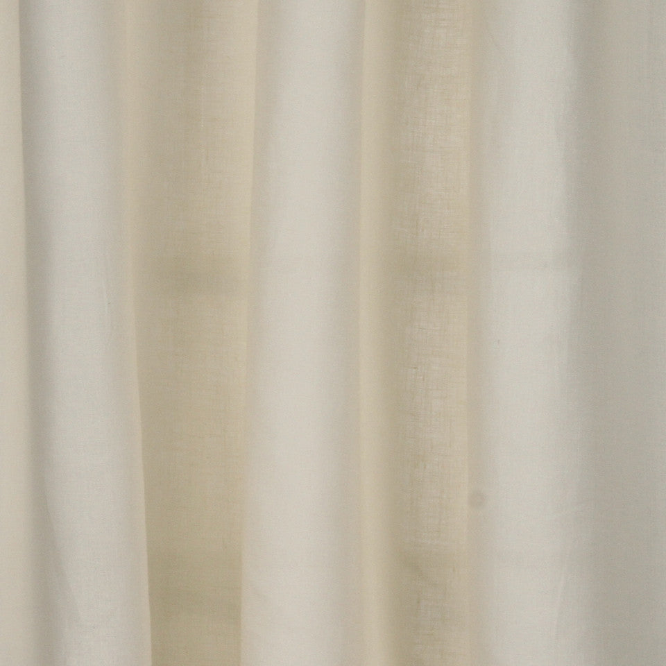 SOLID LINEN SHEERS Grace Sheer Fabric - Ecru