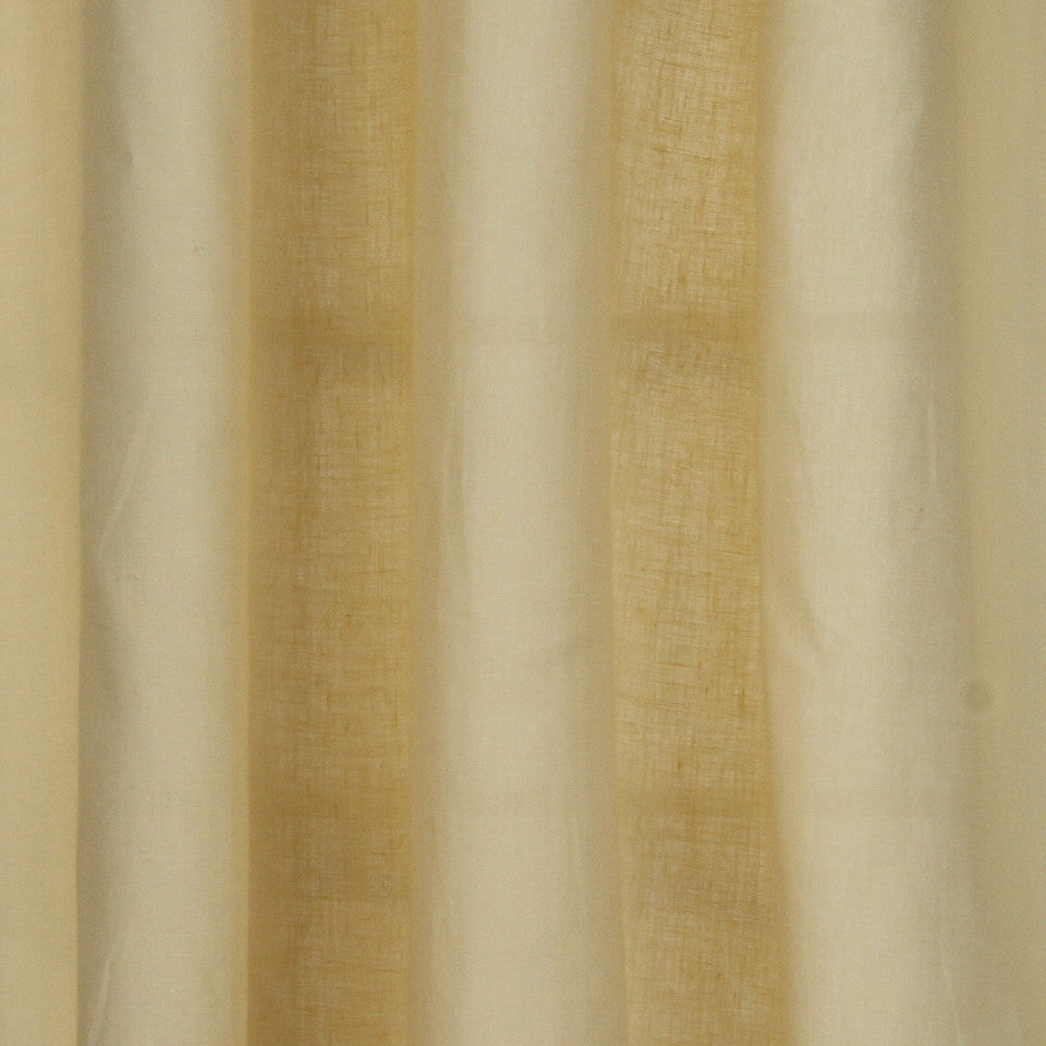 SOLID LINEN SHEERS Grace Sheer Fabric - Parchment