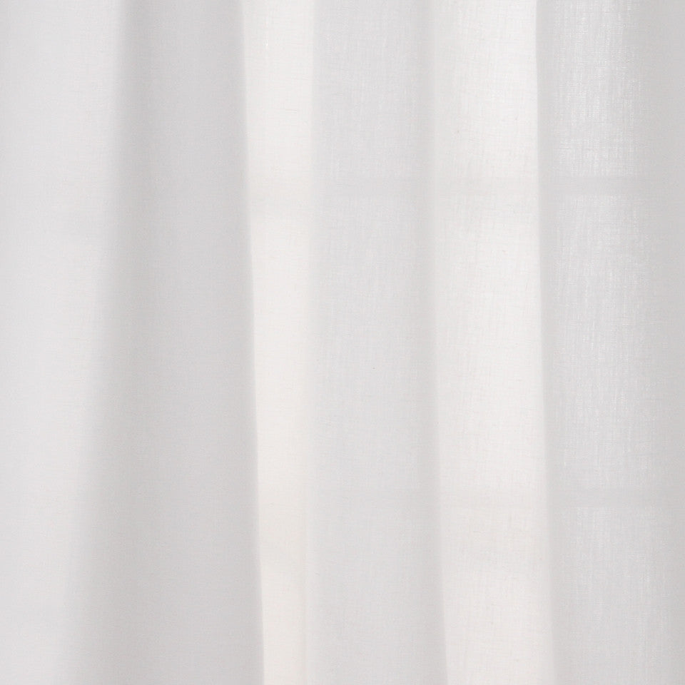 SOLID LINEN SHEERS Grace Sheer Fabric - White