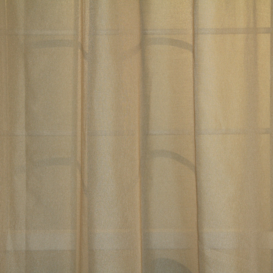 TEXTURED SHEERS Elegant Sheer Fabric - Sand