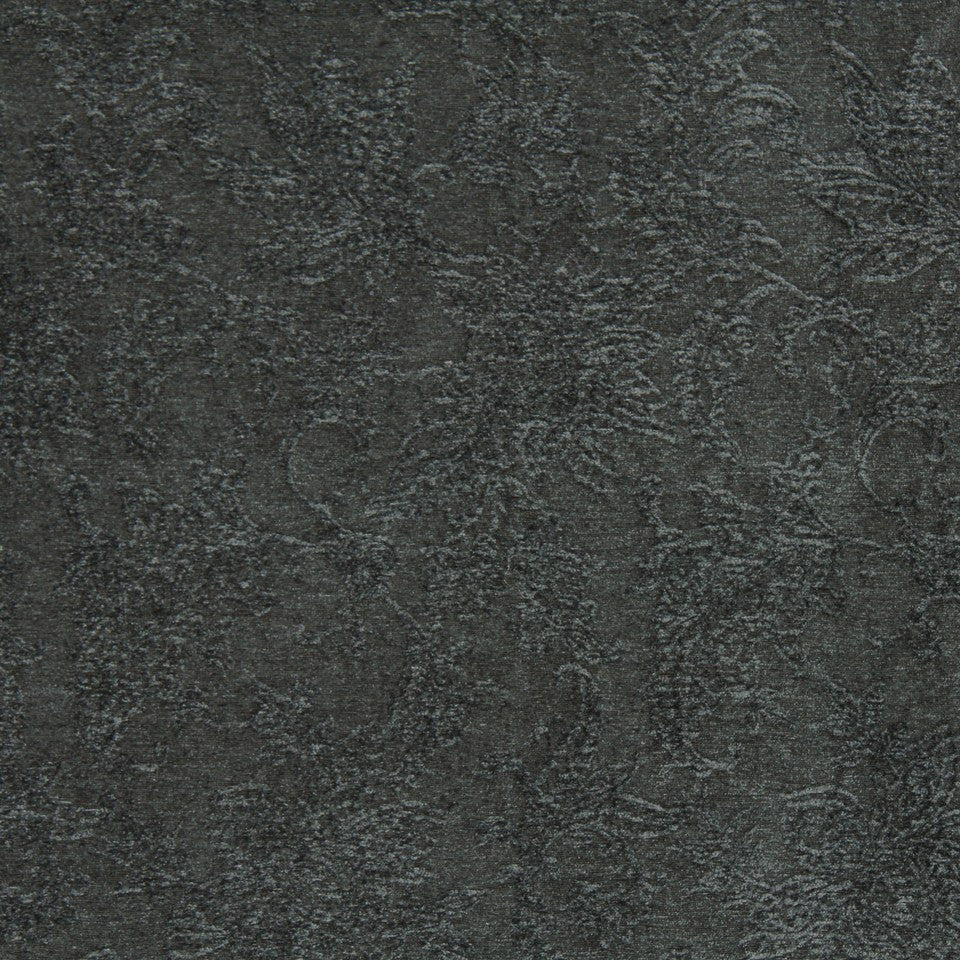 COOL TONES Tufted Flower Fabric - Slate
