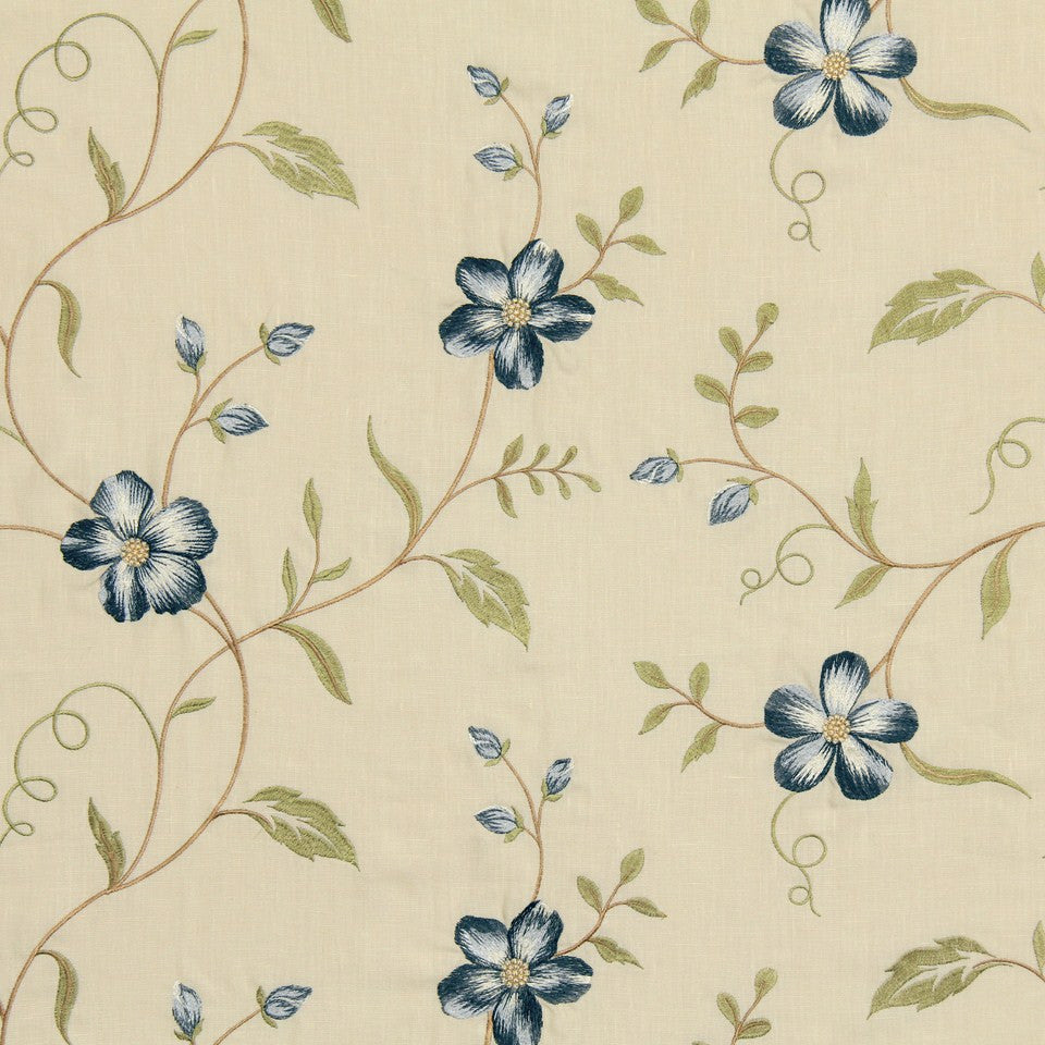 COOL April Flowers Fabric - Harbor
