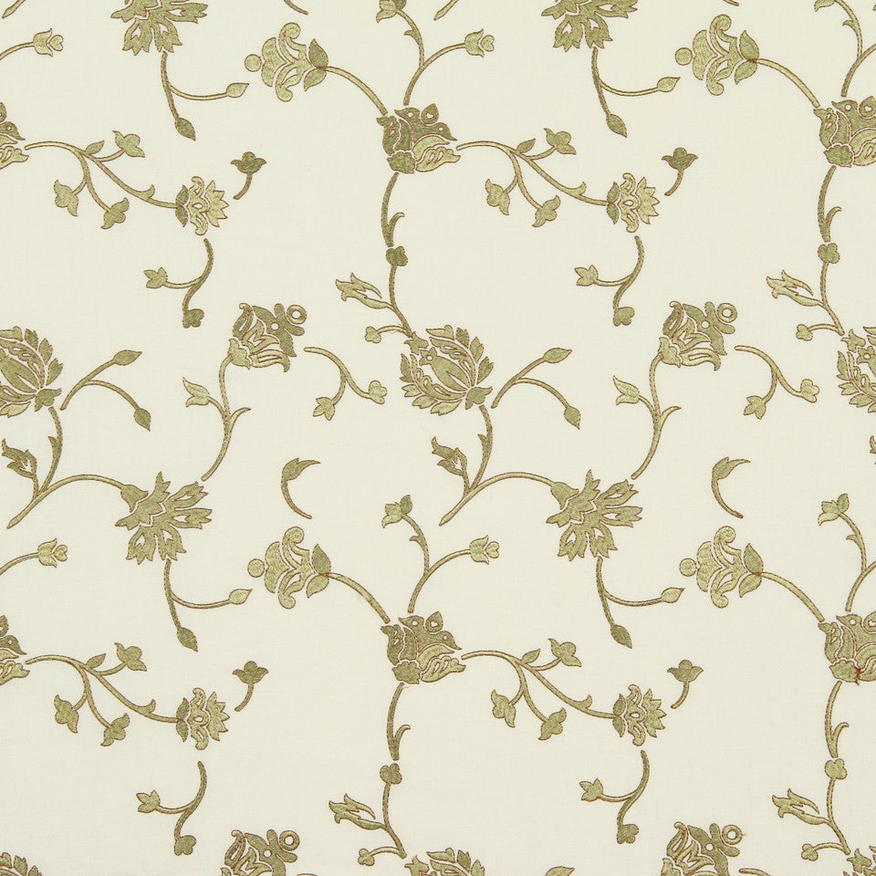 COOL Blooms Abound Fabric - Tarragon