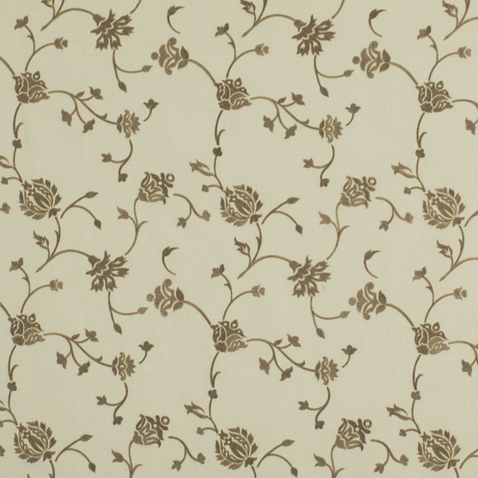 WARM Blooms Abound Fabric - Graphite