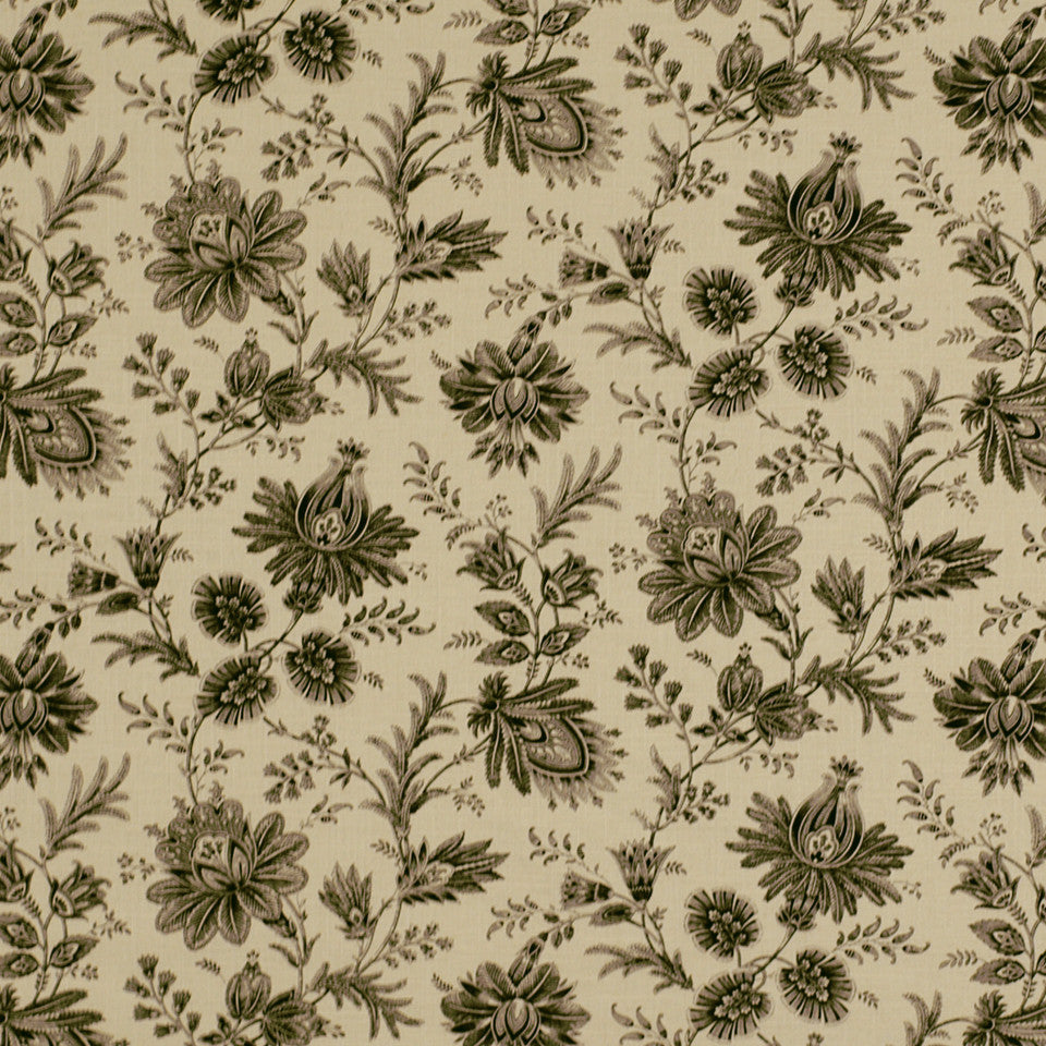 WARM Tsangs Garden Fabric - Jet