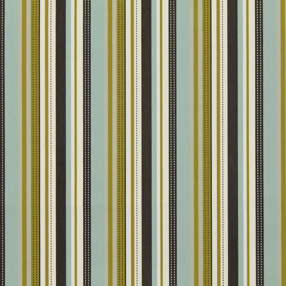 COOL Retro Stripe Fabric - Kiwi