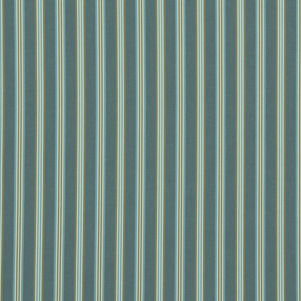 MARINER-COASTAL-NAVY Rope Stripe Fabric - Stream