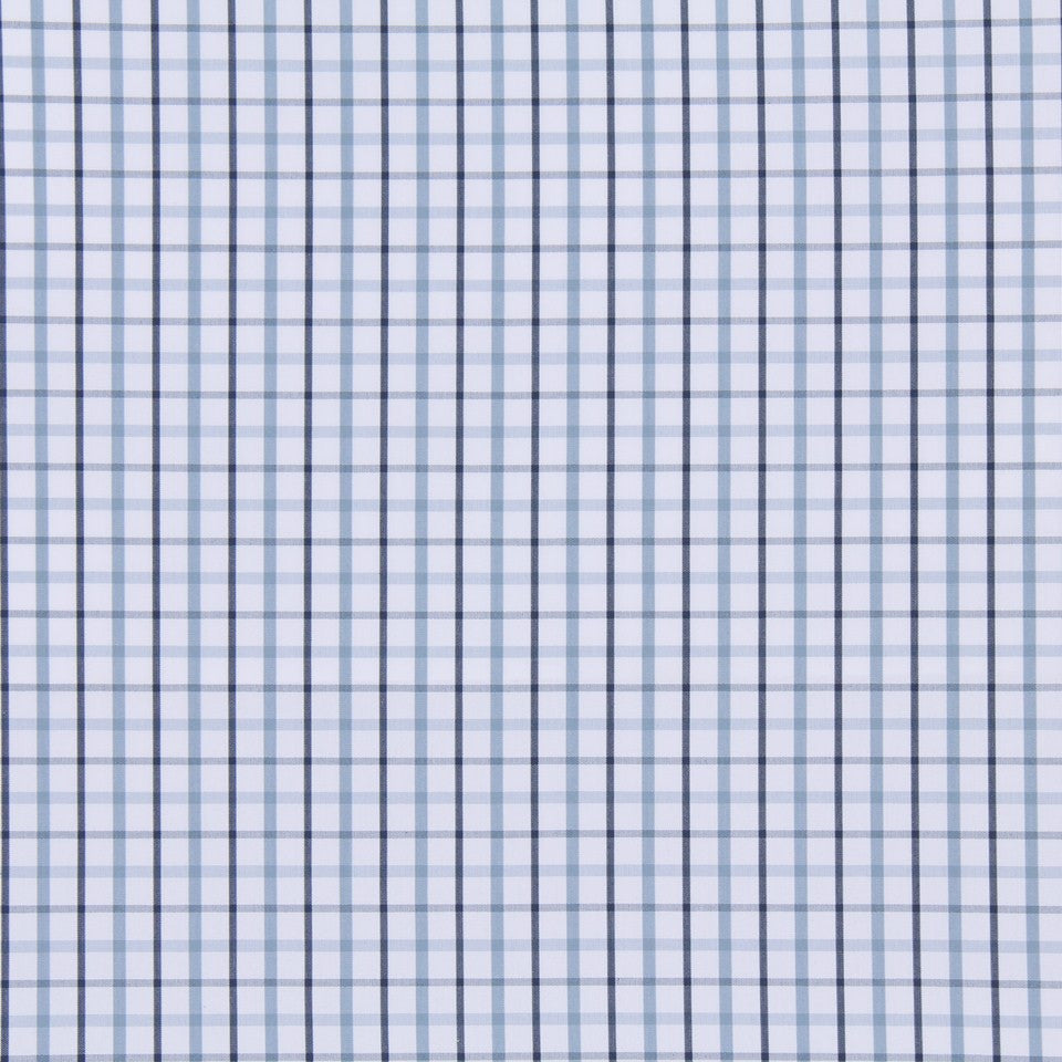 MARINER-COASTAL-NAVY Party Plaid Fabric - Ice
