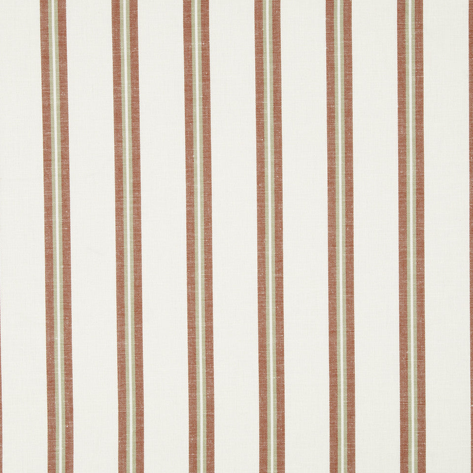 WARM Spunky Stripe Fabric - Cinnabar