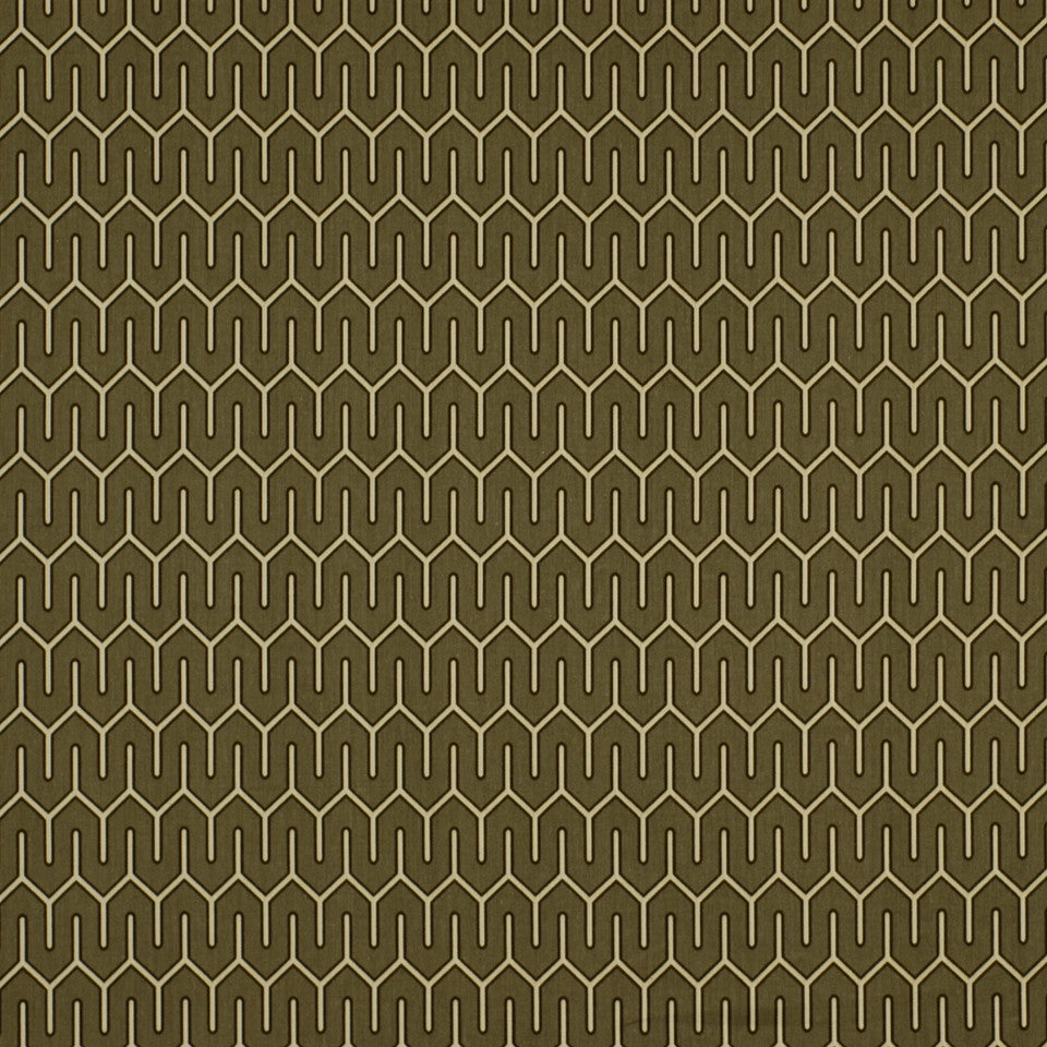 DWELLSTUDIO ECLECTIC MODERN Maze Work Fabric - Brindle