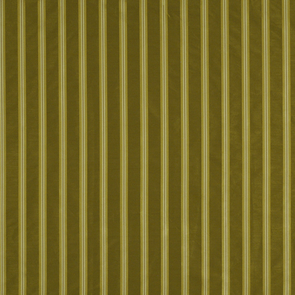 SILKY INSPIRATIONS Double Stripe Fabric - Tarragon