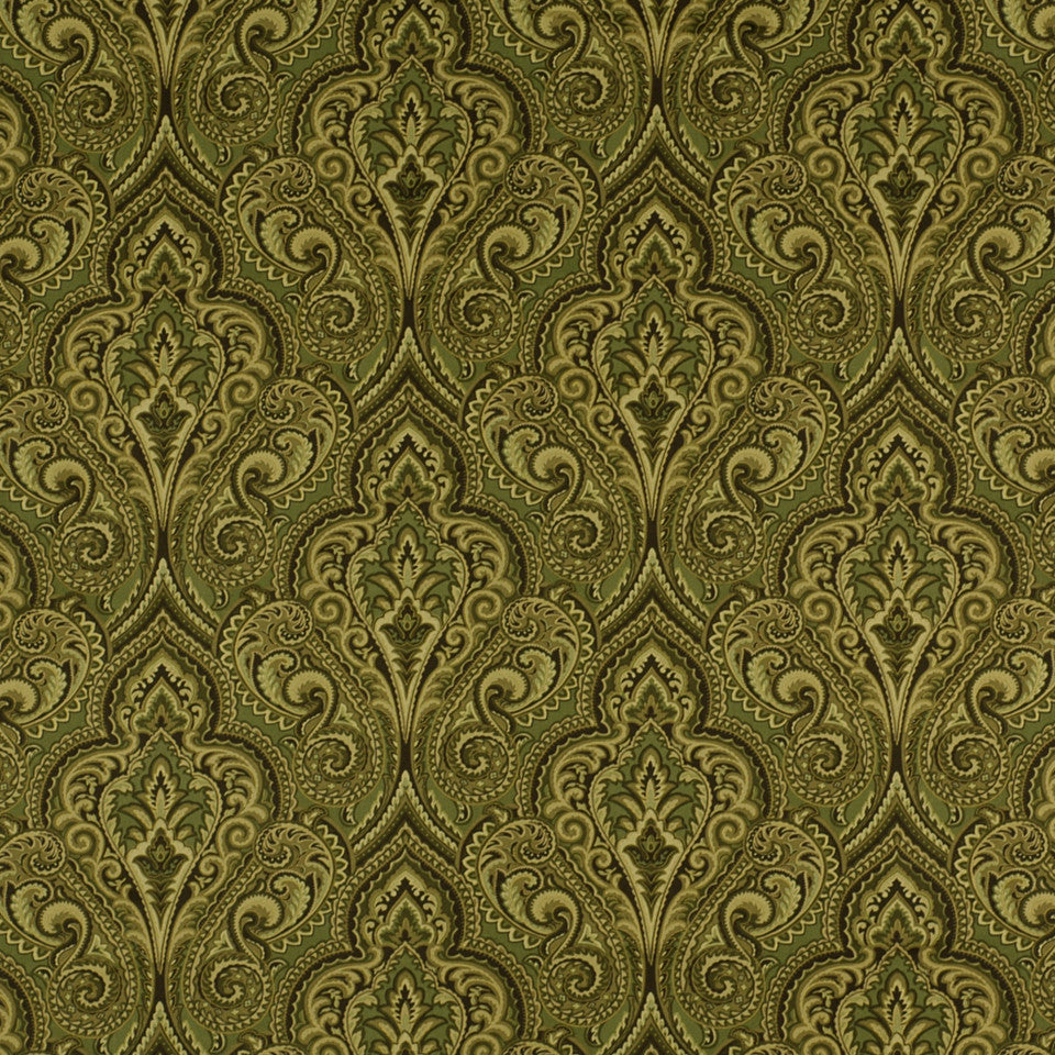 SILKY INSPIRATIONS Swirl Lane Fabric - Jungle