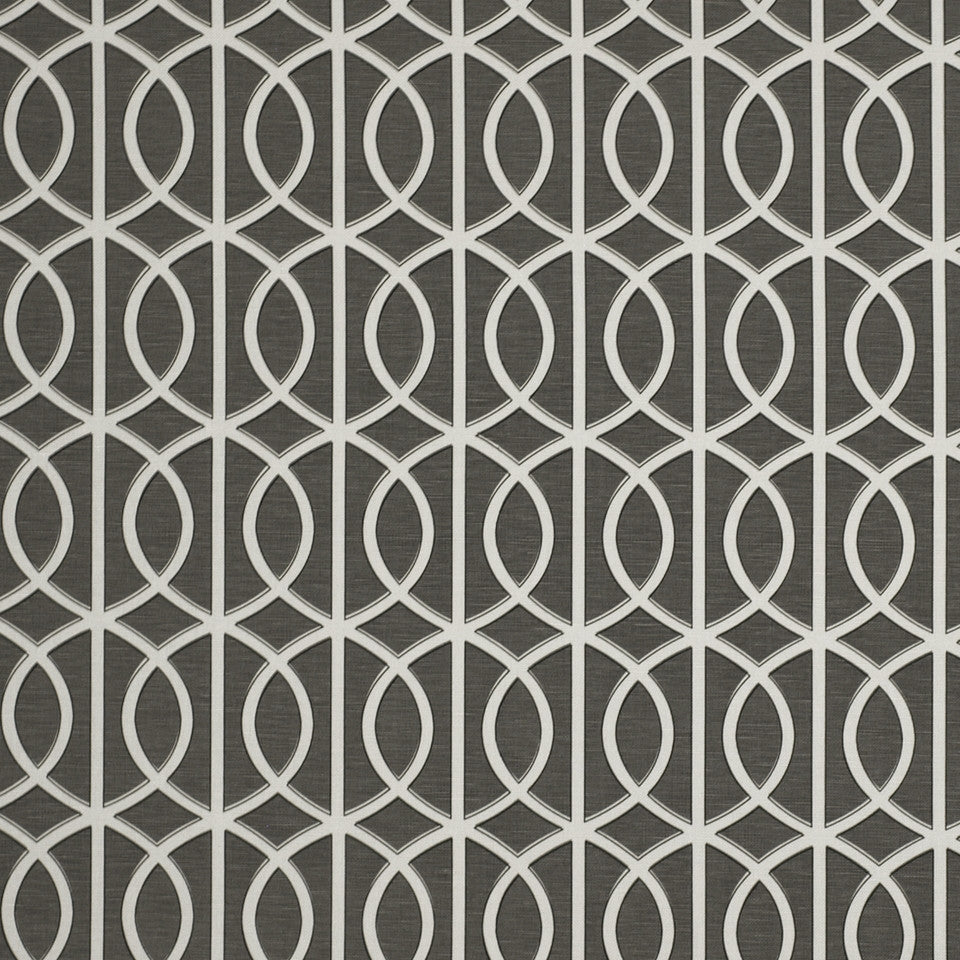 DWELLSTUDIO ECLECTIC MODERN Gate Fabric - Charcoal