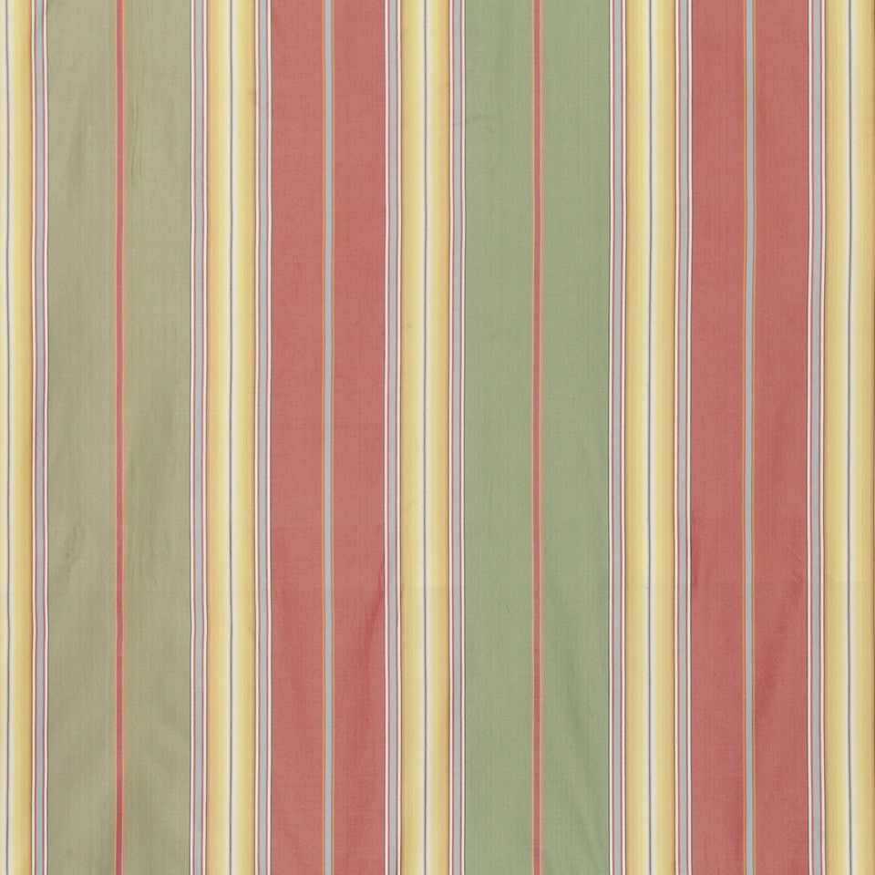 POPPY Many Lines Fabric - Poppy
