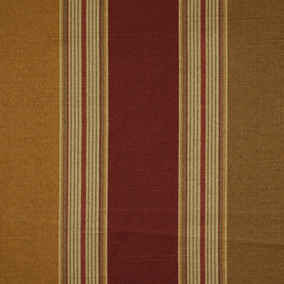 FLORENTINE SATINS III Dobson Stripe Fabric - Lacquer