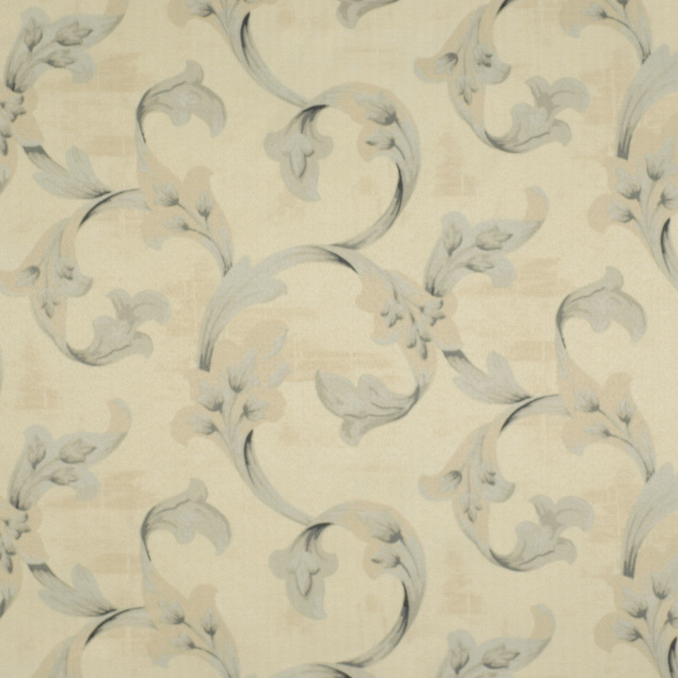FLORENTINE SATINS III Floral Stretch Fabric - Powder