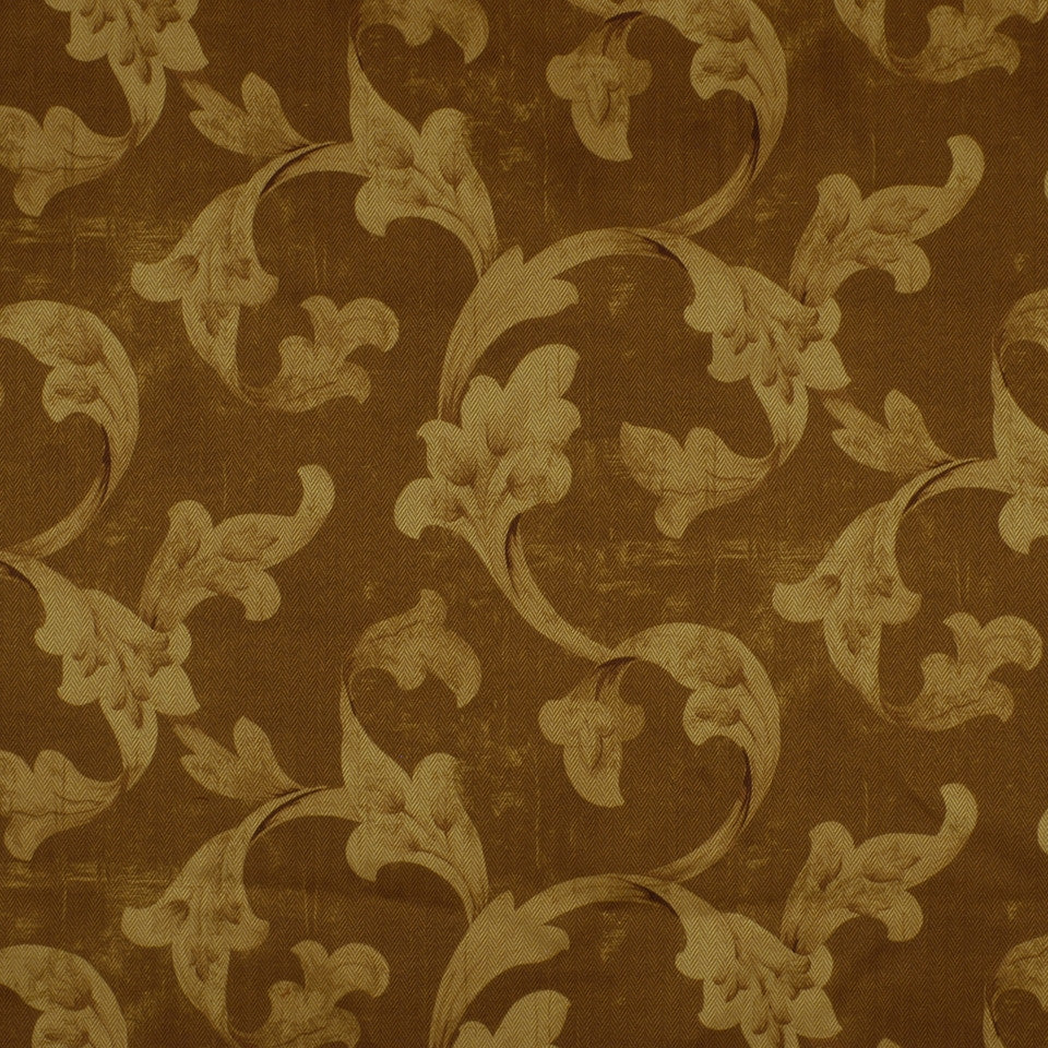 FLORENTINE SATINS III Floral Stretch Fabric - Cashew