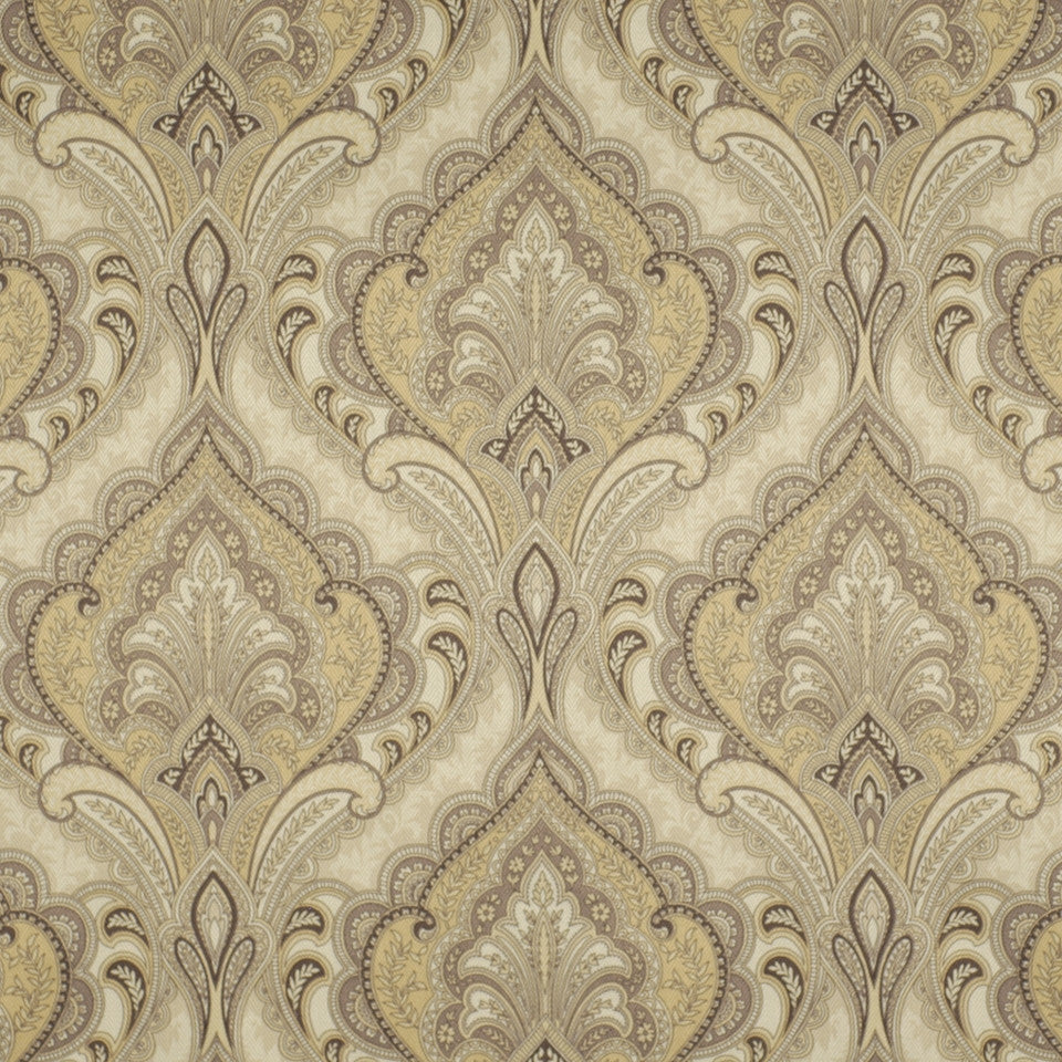 FLORENTINE SATINS III Paisley Grace Fabric - Dove