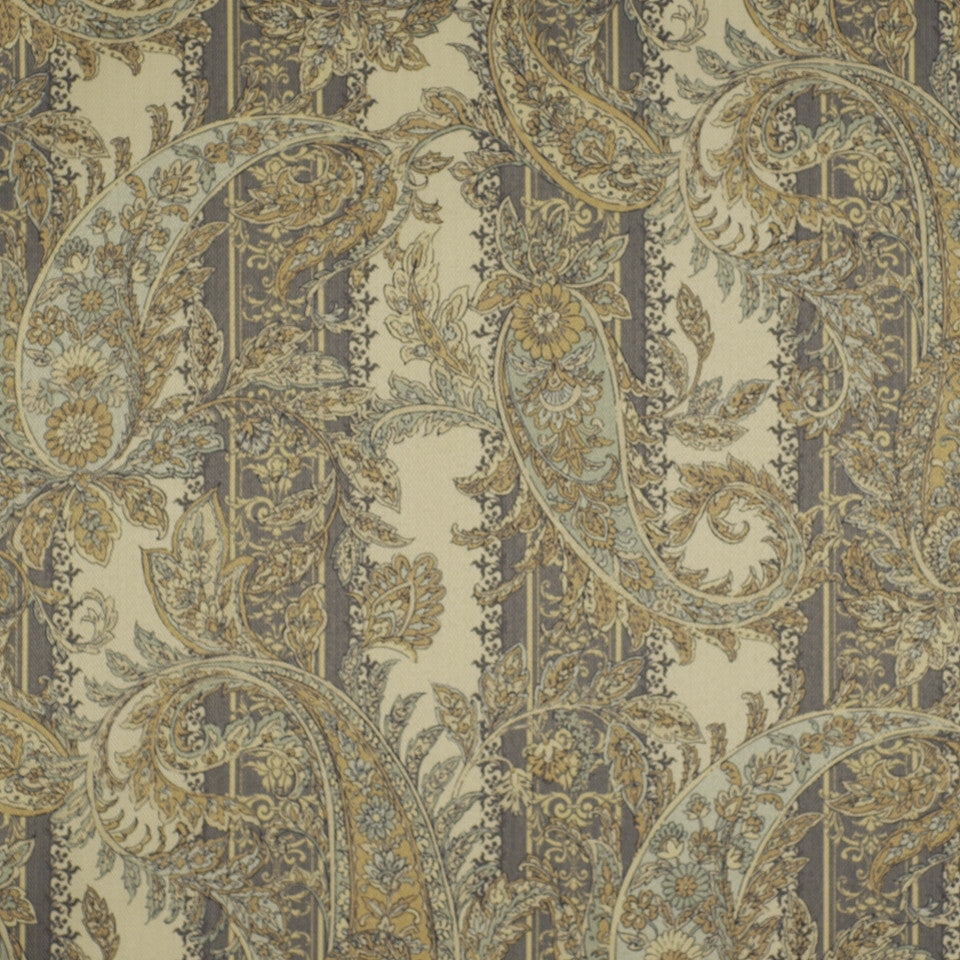 FLORENTINE SATINS III Hidden Stripe Fabric - Jasper