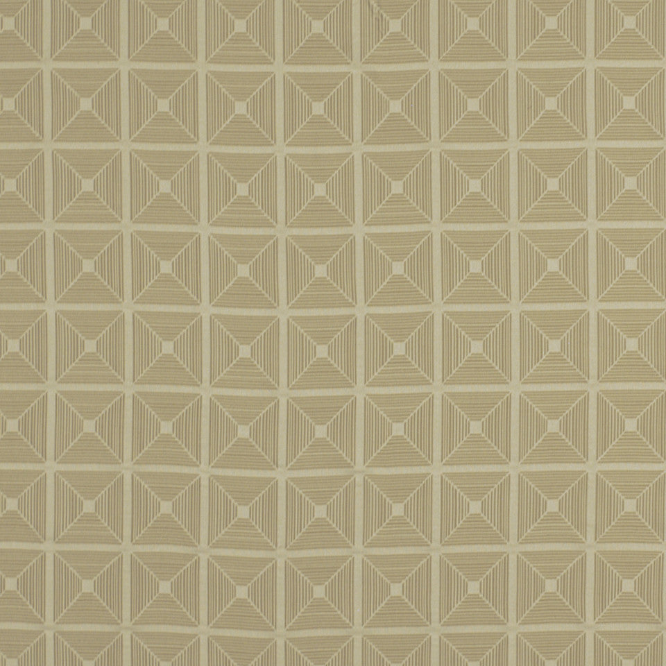 DWELLSTUDIO ECLECTIC MODERN Pyramid Fabric - Birch