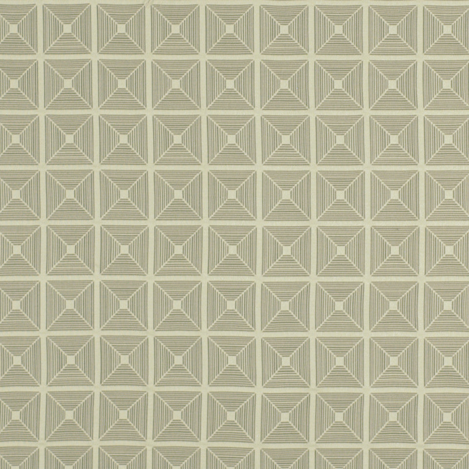 DWELLSTUDIO ECLECTIC MODERN Pyramid Fabric - Dove