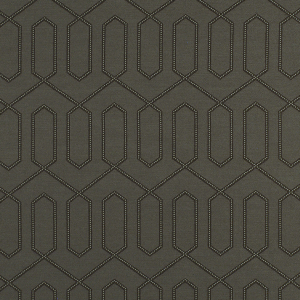 DWELLSTUDIO ECLECTIC MODERN Dotted Trellis Fabric - Dove