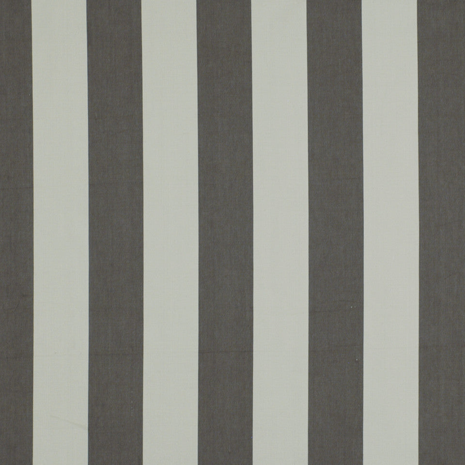 DWELLSTUDIO ECLECTIC MODERN Oversize Stripe Fabric - Charcoal