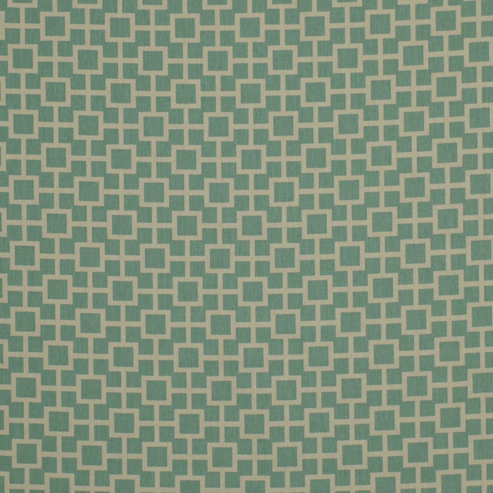 Latticescape Fabric - Aqua