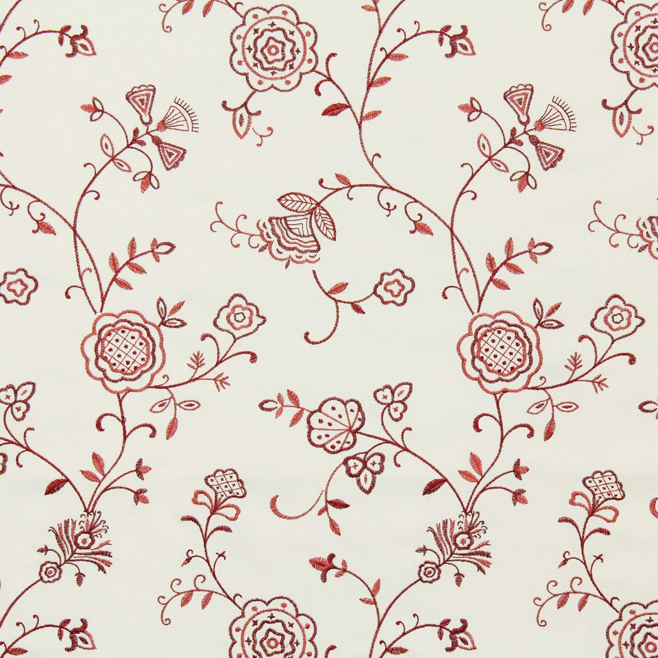 RUBY-BEESWAX-GERANIUM Stacy Lyn Fabric - Poppy