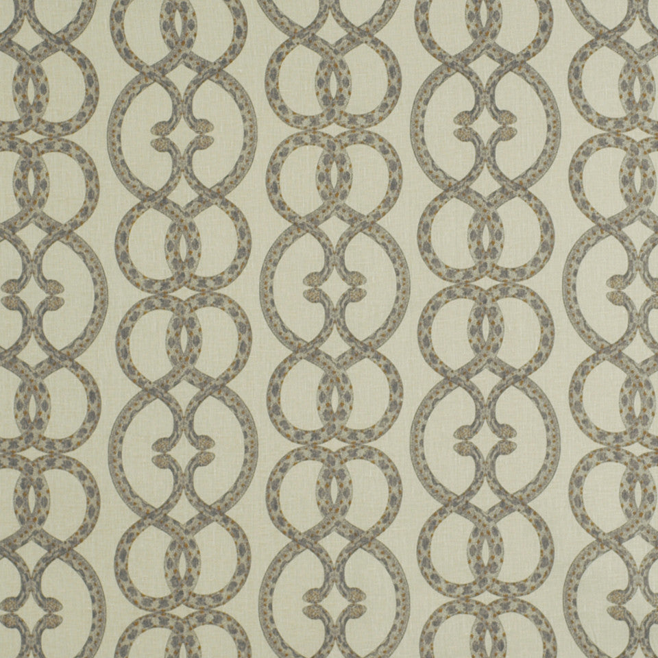 DWELLSTUDIO ECLECTIC MODERN Snake Chain Fabric - Dove