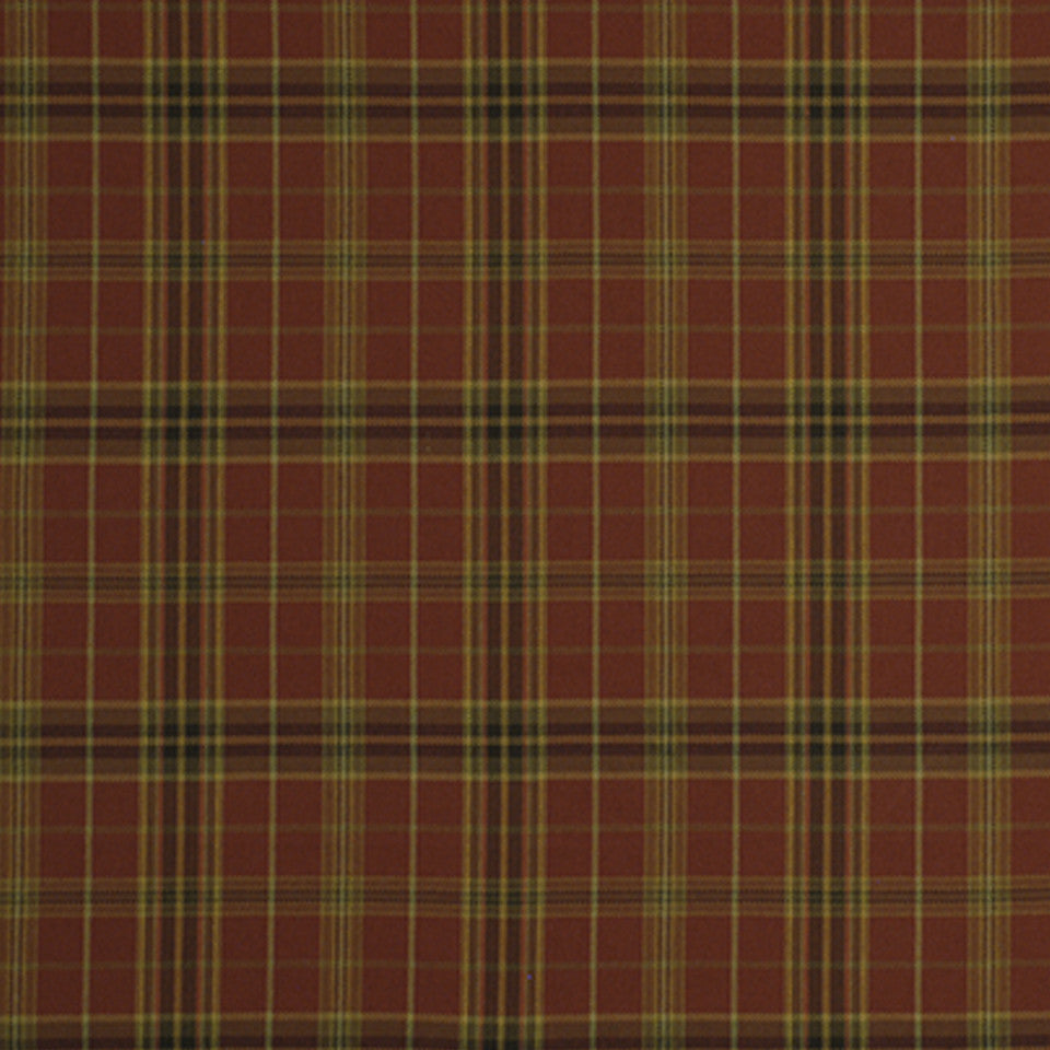 WARM Imperial Plaid Fabric - Rhubarb
