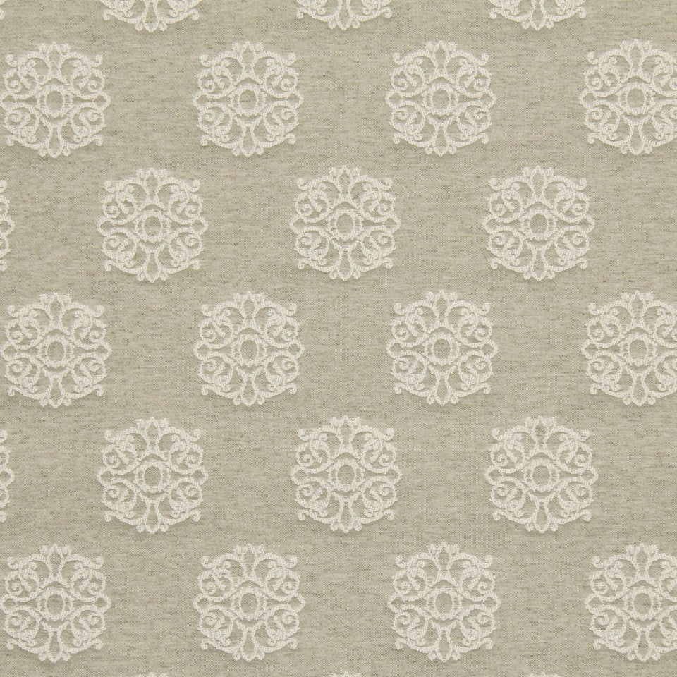 TWINE Flower Tops Fabric - Twine