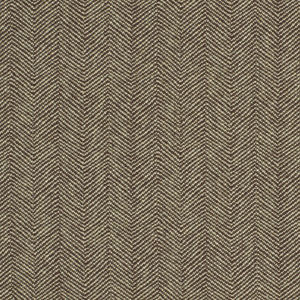 DWELLSTUDIO ECLECTIC MODERN Mini Zigzag Fabric - Major Brown
