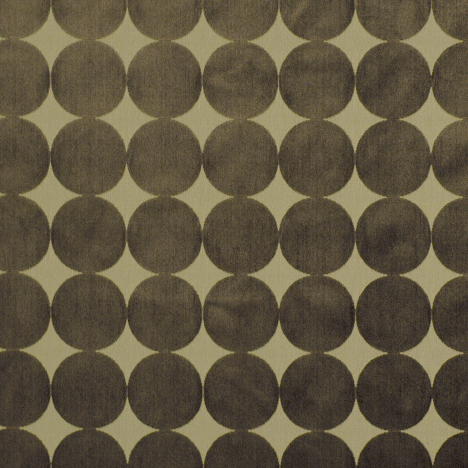 DWELLSTUDIO ECLECTIC MODERN Plush Dotscape Fabric - Major Brown