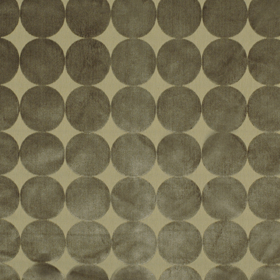DWELLSTUDIO ECLECTIC MODERN Plush Dotscape Fabric - Brindle