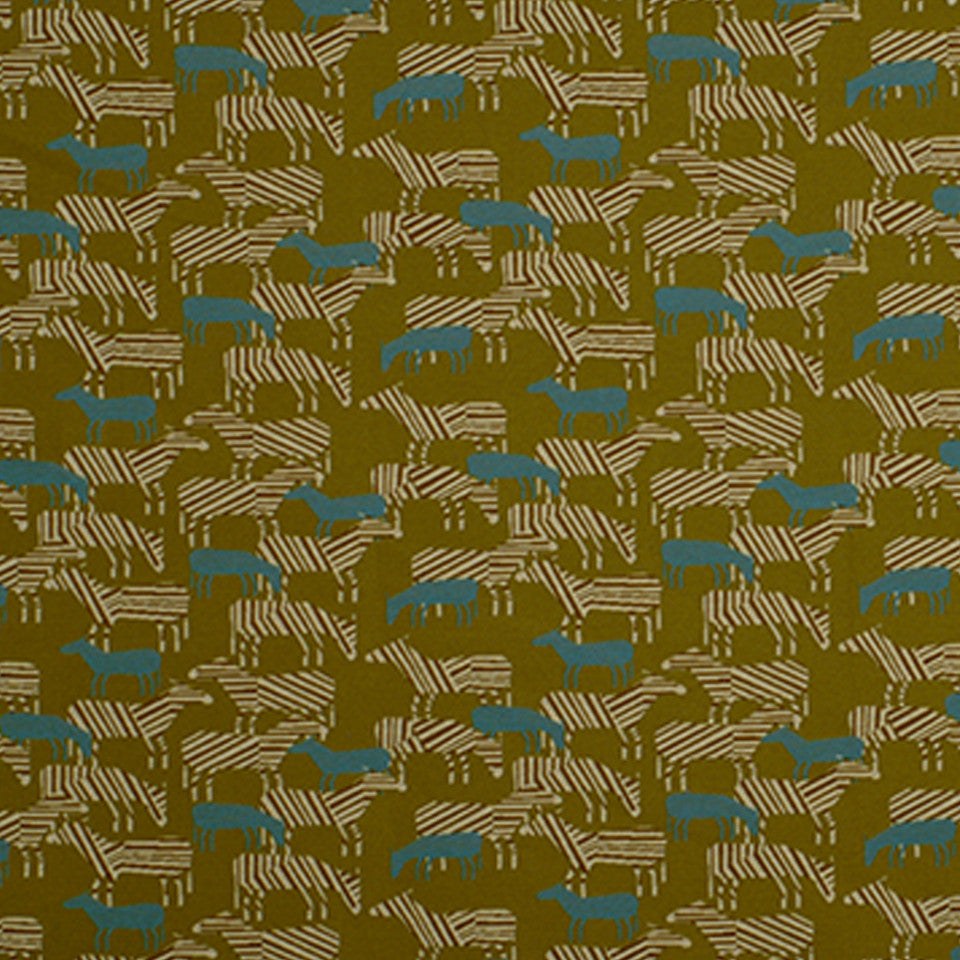 DWELLSTUDIO HEALTHCARE Zebra Safari Fabric - Kiwi