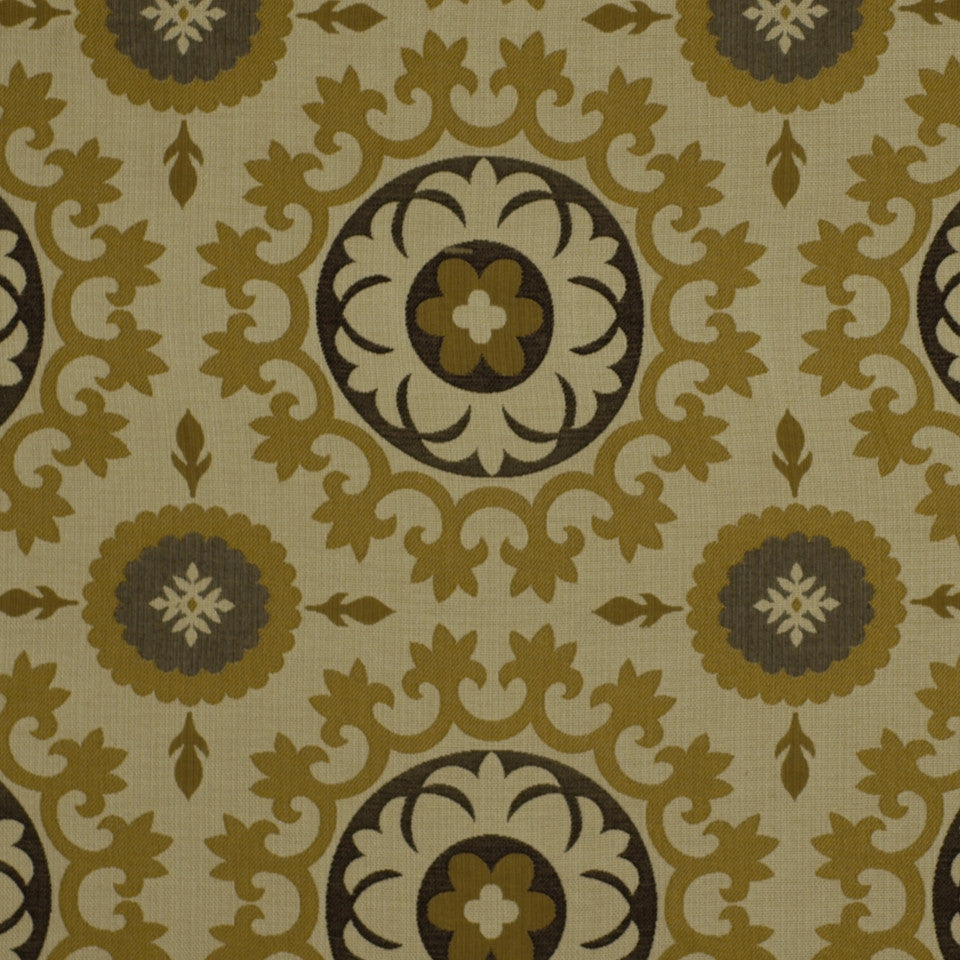 HONEYSUCKLE Roman Circle BK Fabric - Honeysuckle