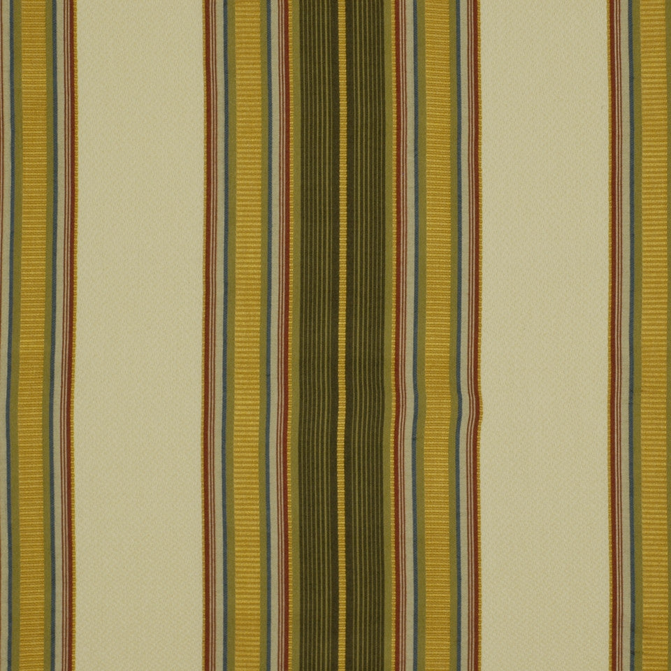 HONEYSUCKLE Dalby Stripe Fabric - Honeysuckle