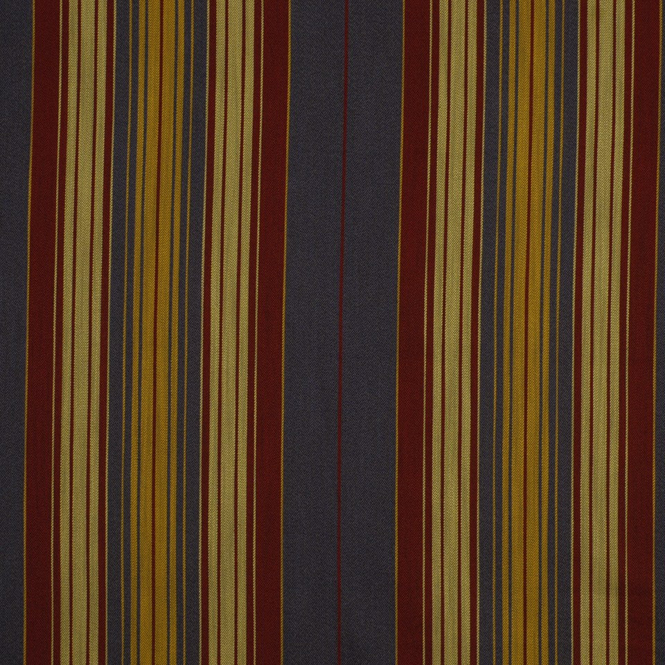 Milanstripe BK Fabric - Denim Cherry