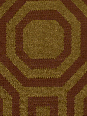 SPICE-HAYSTACK-JAVA Octagons Fabric - Terracotta