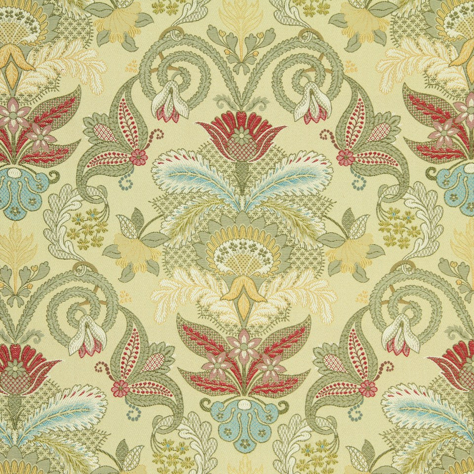 HONEYSUCKLE Floral Array Fabric - Honeysuckle