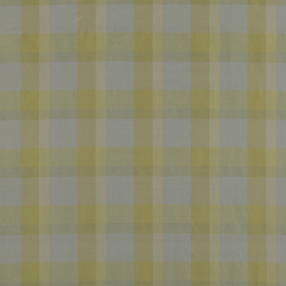 GARDEN Caraco Plaid Fabric - Pool